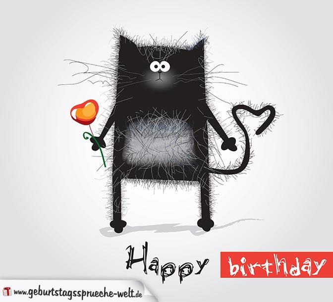 Frauen geburtstagswünsche katzen für mit Kurze Geburtstagssprüche: