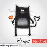 Geburtstagskarte mit Katze