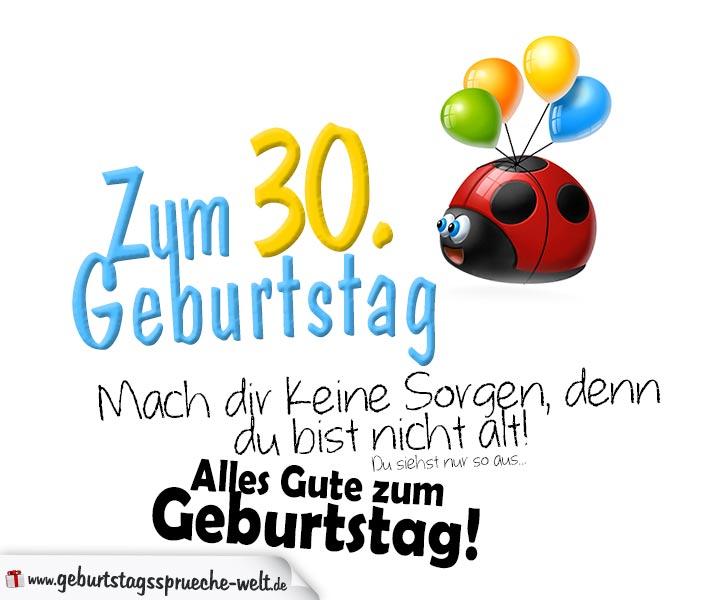 Geburtstag 30 Frau Spruch