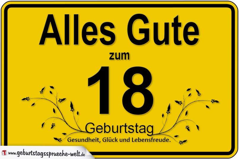 18 Geburtstag Geburtstagsspruche Welt