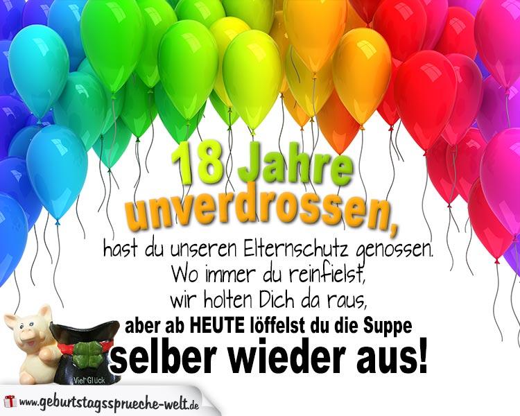 18 Jahre Lustige Reime Zum Geburtstag Geburtstagsspruche Welt