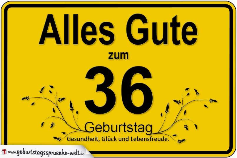 Geburtstagssprüche Für Jedes Alter Als Gelbes Schild