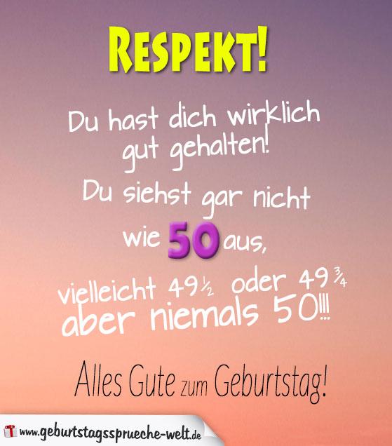 Sprüche 50 Geburtstag