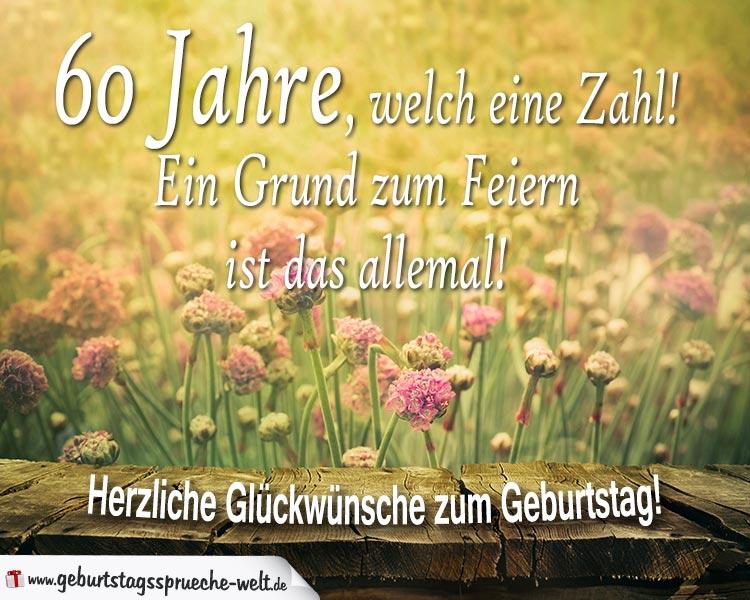 60 Geburtstag Geburtstagskarte Alles Gute Mit Schnem Spruch