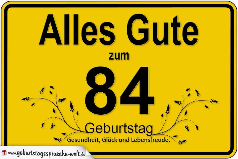 84. Geburtstag - Geburtstagssprüche-Welt