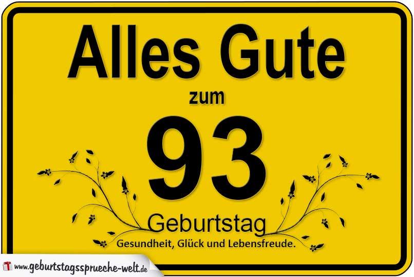 93 Geburtstag Geburtstagssprüche Welt