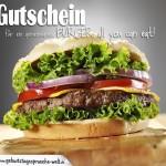 Sehr lecker angerichteter Cheeseburger