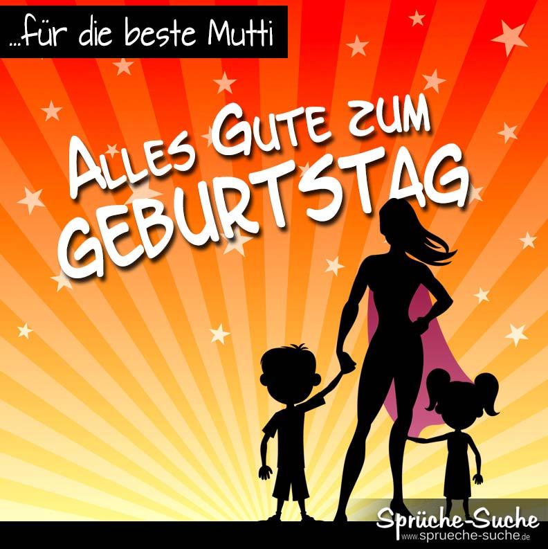 Geburtstagskarte für Supermuttis von Kindern