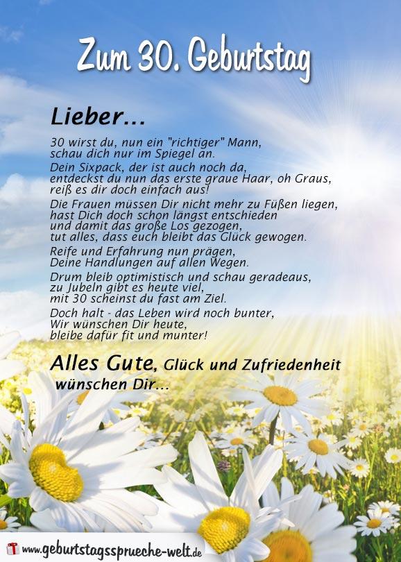 Verse Zum 30 Geburtstag