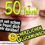 Ironischer Geburtstagswunsch zum 50. Geburtstag einer Frau