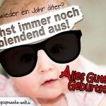 Geburtstagskarte - Cooles Baby mit Sonnenbrille
