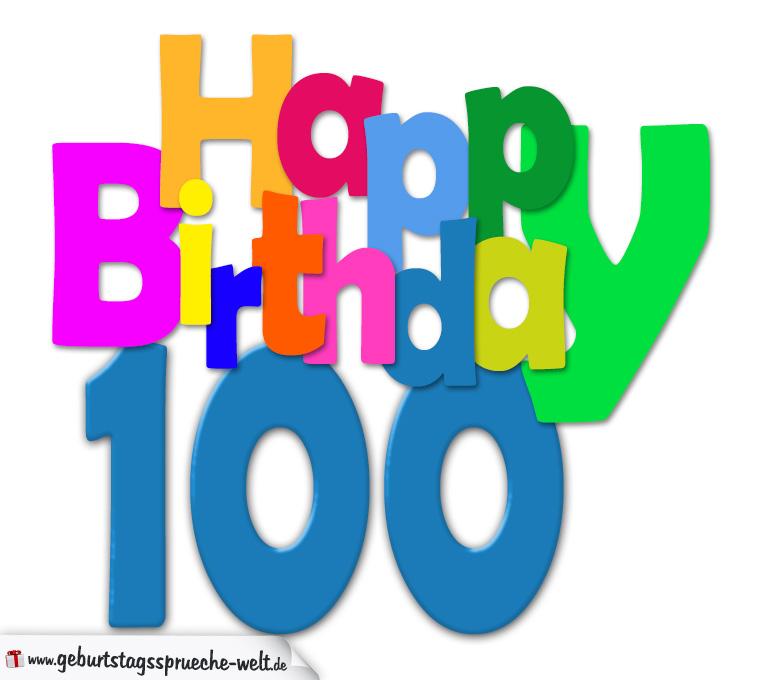 Geburtstagbpruche zum 100 geburtstag