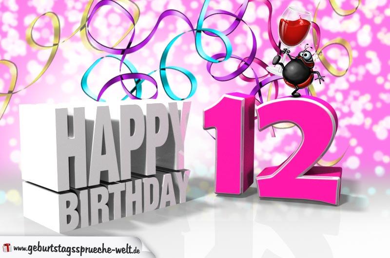 12. Geburtstag - Geburtstagssprüche-Welt