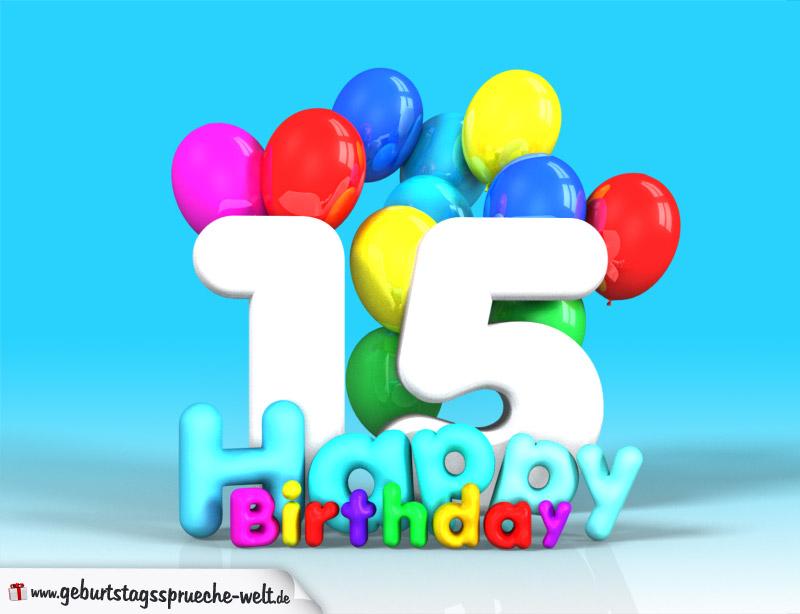 15 geburtstag bild happy birthday mit ballons geburtstagsspr che welt. Black Bedroom Furniture Sets. Home Design Ideas