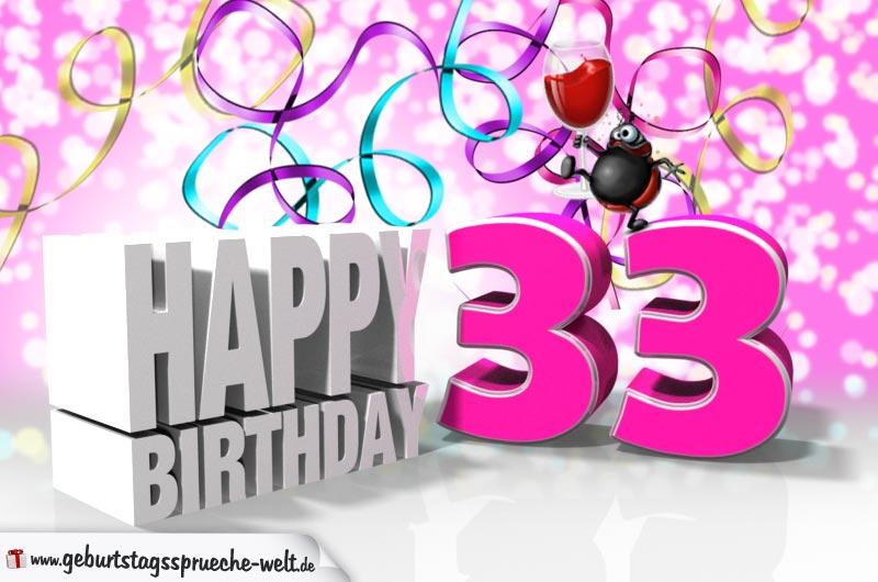 33 geburtstag geburtstagsspr che welt - Geburtstagsbilder zum 25 ...