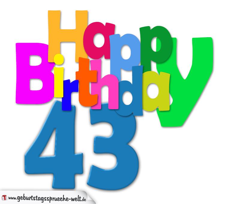 43. Geburtstag