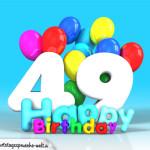 Geburtstagskarte mit Glückwünsch zum 49. Geburtstag