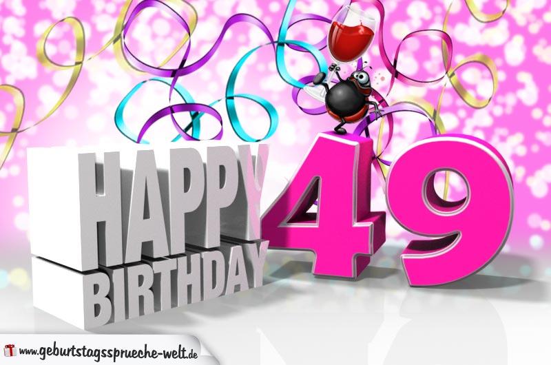 Glückwünsche Zum 49 Geburtstag