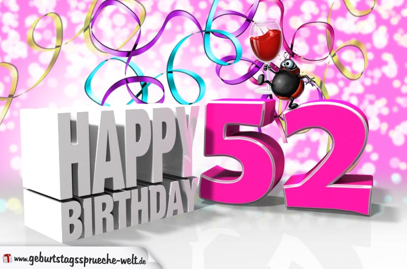 52. Geburtstag - Geburtstagssprüche-Welt