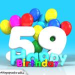 Geburtstagskarte mit Glückwünsch zum 59. Geburtstag