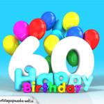 Geburtstagskarte mit Glückwünsch zum 60. Geburtstag