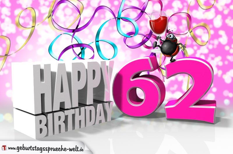 62. Geburtstag - Geburtstagssprüche-Welt