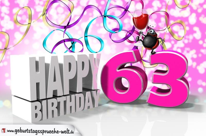 63 Geburtstag Geburtstagssprüche Welt