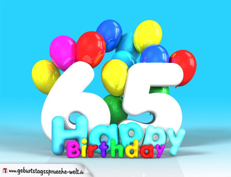 65 geburtstag bild happy birthday mit ballons geburtstagsspr che welt. Black Bedroom Furniture Sets. Home Design Ideas