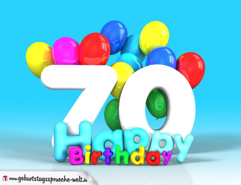 70 geburtstag bild happy birthday mit ballons. Black Bedroom Furniture Sets. Home Design Ideas