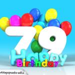 Geburtstagskarte mit Glückwünsch zum 79. Geburtstag