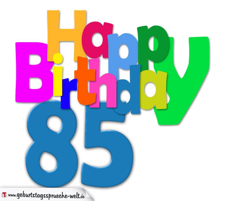 85 geburtstag happy birthday geburtstagskarte mit - Geschenke zum 85 geburtstag ...