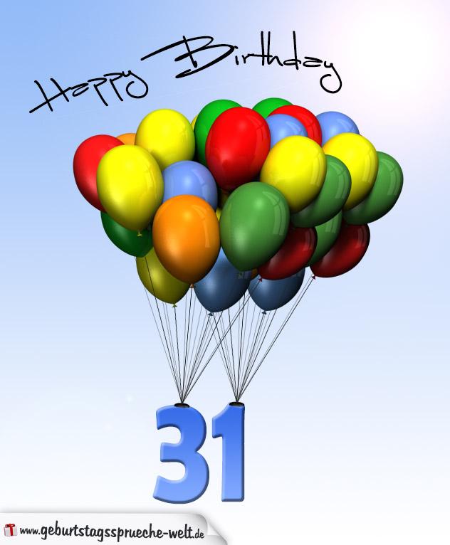 Sprüche Zum 31. Geburtstag