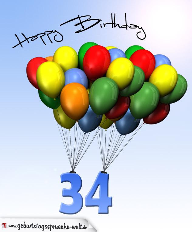 Alles Gute Zum 34 Geburtstag