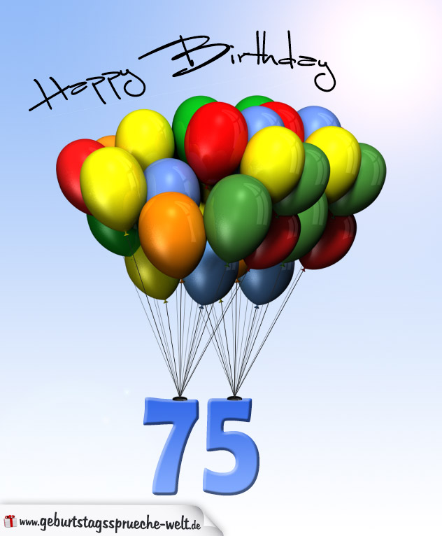 Geburtstagsgrüße Zum 75.