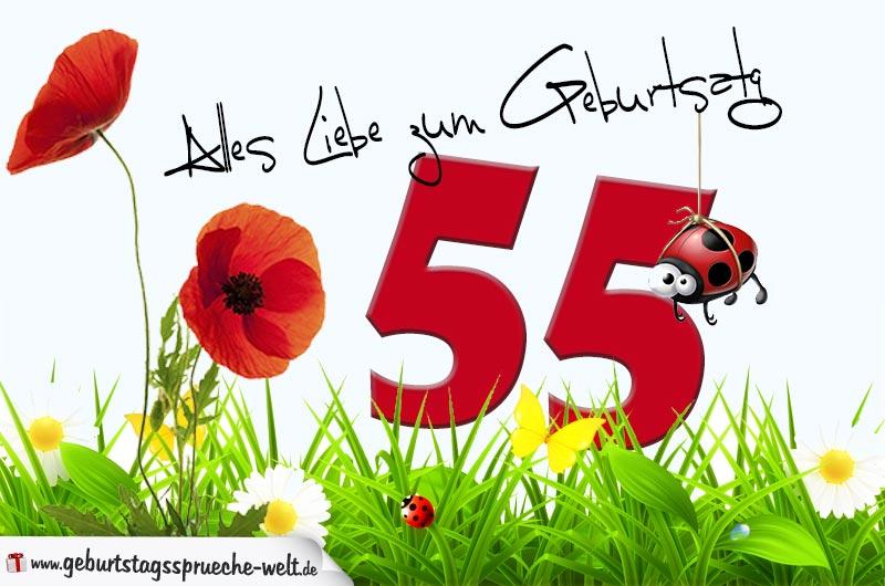 Spruche Zum 55 Geburtstag 55 Geburtstag Gluckwunsche Und Spruche