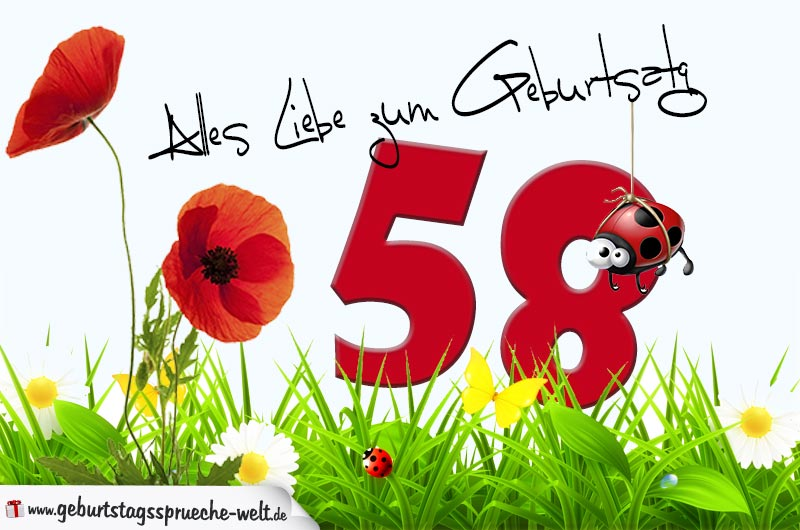 58. Geburtstag