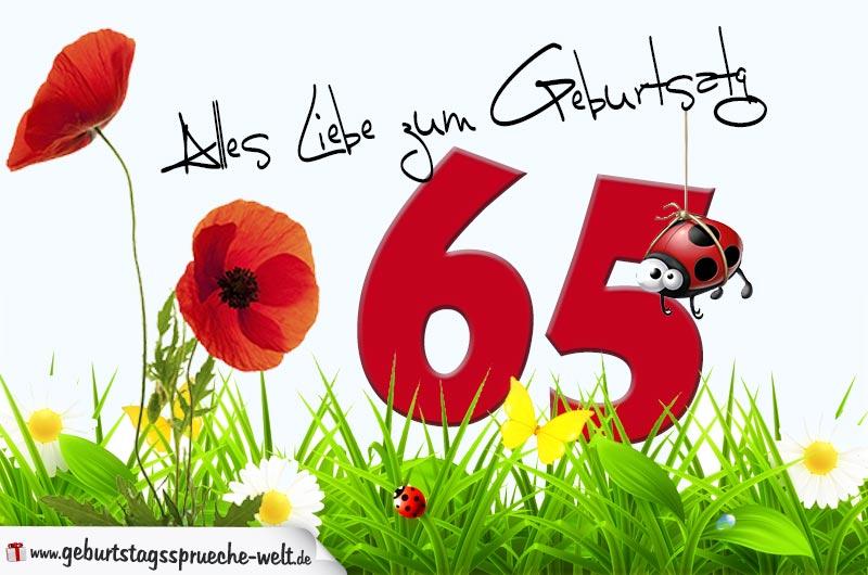 Geburtstagswünsche Zum 65