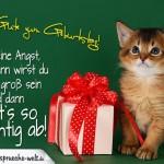 Geburtstagskarte für Kinder mit niedlicher kleinen Katze