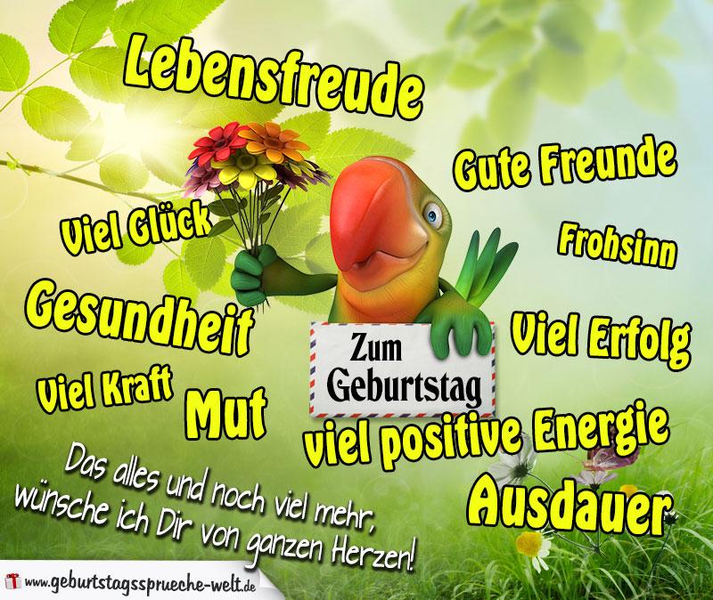 Geburtstagskarte Mit Vielen Schönen Wünschen Für Das Leben. In: Sprüche Und  Wünsche Zum Geburtstag