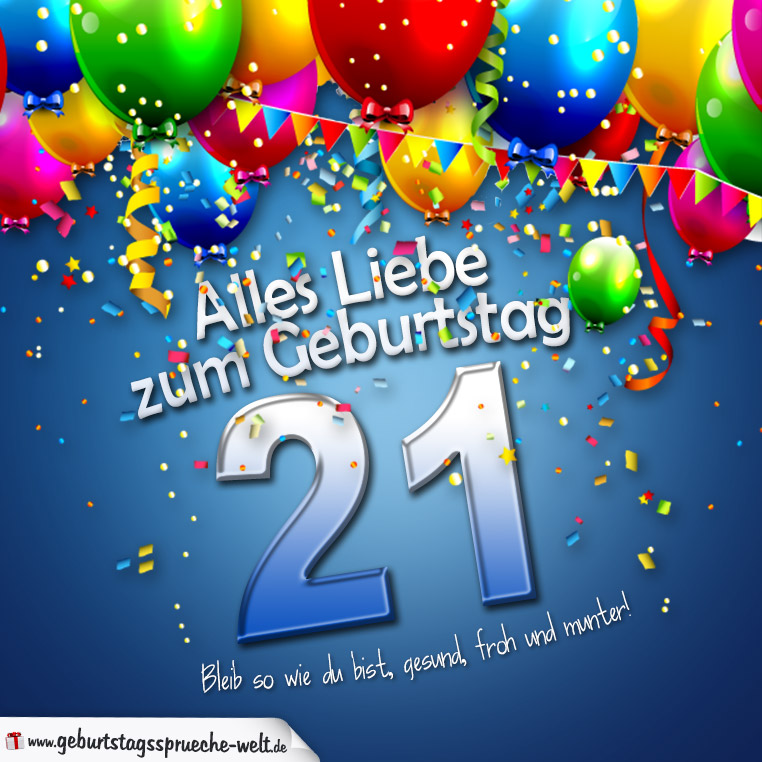 Geburtstagbpruche zum 21