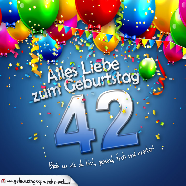 Geburtstagskarte Mit Bunten Ballons Konfetti Und