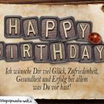 Schöne auf alt gemachte Geburtstagskarte zum Ausrichten von Glückwünschen zum Geburtstag