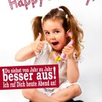 Kleines Kind mit Happy Birthday