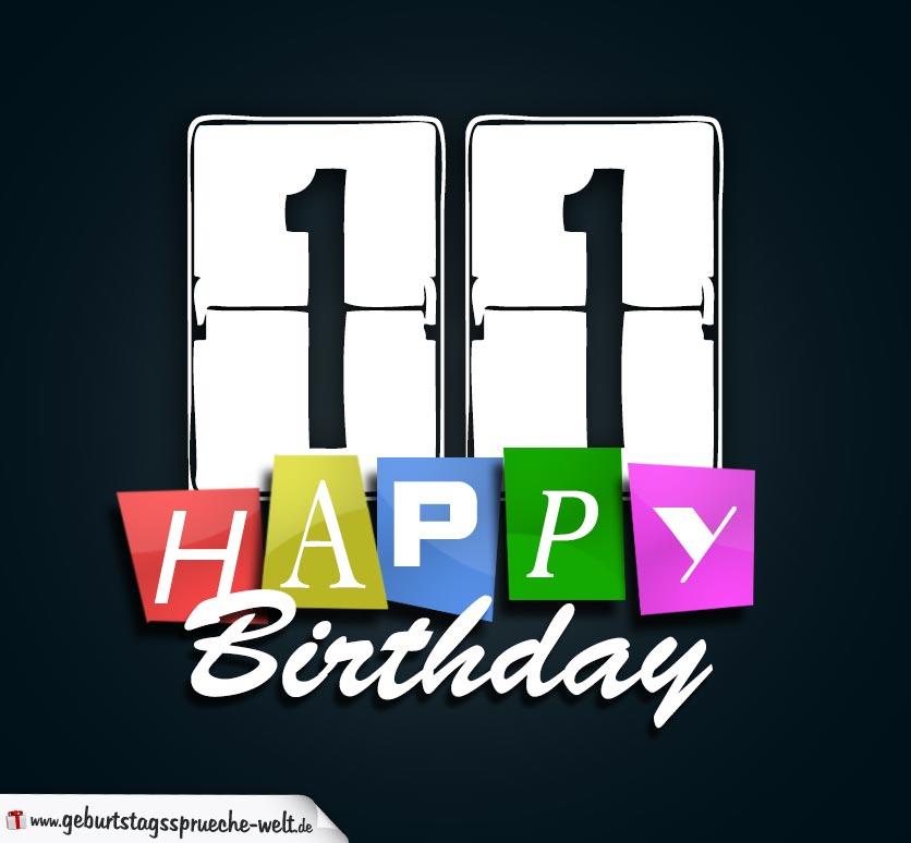 Spruch 11 Geburtstag