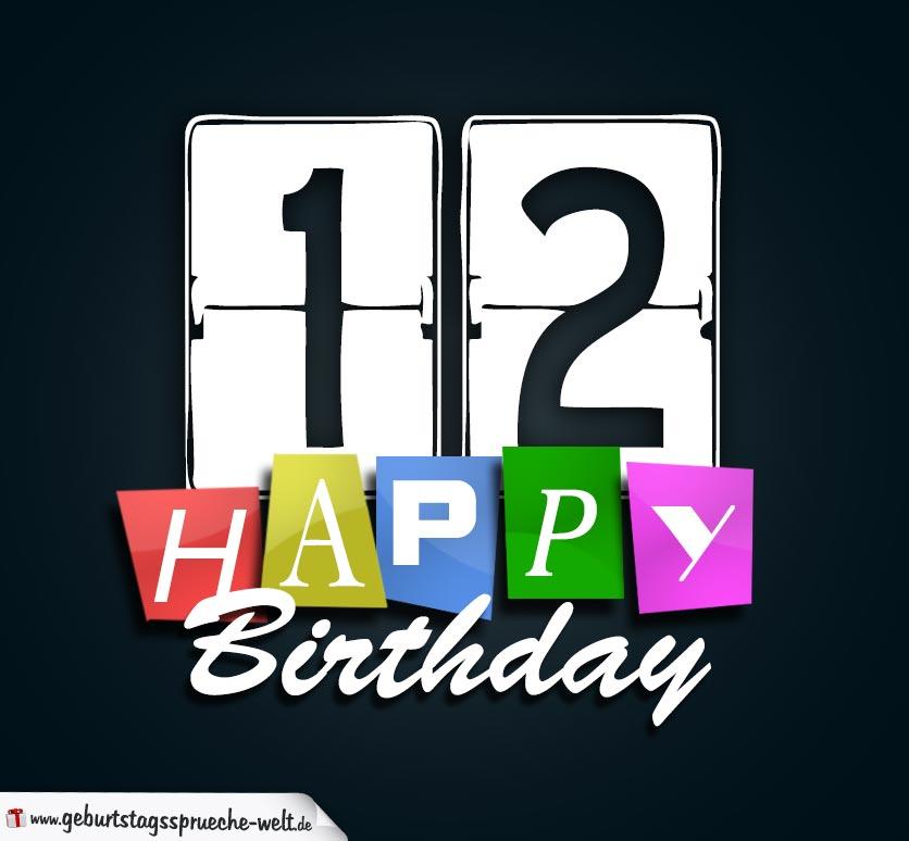 12 Geburtstag