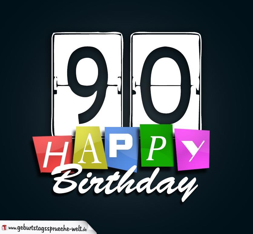Schne Geburtstagskarte Zum 90 Geburtstag