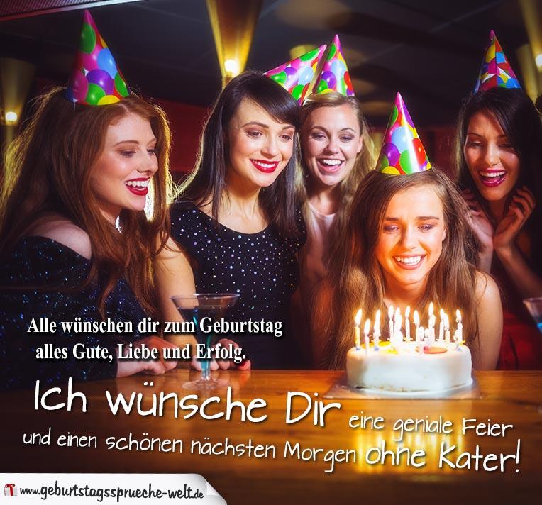 Geburtstagskarte Feier schön mach Party   Geburtstagssprüche Welt