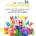 14. Geburtstag Geburtstagskarte