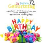 72. Geburtstag Geburtstagskarte
