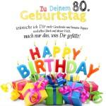 80. Geburtstag Geburtstagskarte